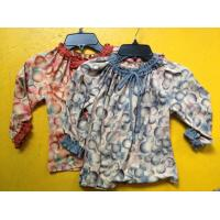 Rust Circles Colorful Girls Long Sleeve Top , Children Girls Clothes Frills Cuff Neck Manufactures