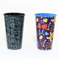 China Printing Labels Disposable Coffee Cups , Disposable Plastic Yogurt Cups on sale