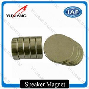 N35 N42 N52 Disc Neodymium Permanent Magnets Nickel Coating For Speaker Manufactures