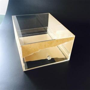 China acrylic/plastic/Plexiglass/Perspex/PMMA material clear acrylic shoe display box on sale