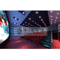 52 Seats 6D Cinema Equipment With 2 Person / Seat Red Motion Chairs For Technology Museum Manufactures
