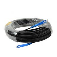 China SC / UPC Jumper FTTH Outdoor Drop Cable G652D G657A Fiber Optical Cable Patch Cord on sale