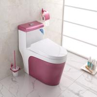 Complete Toilet Set Pink Color Ground Drainage patterns Manufactures
