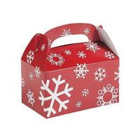 China Custom Printed Christmas Paper Gift Boxes For Chocolate / Cookies Packing on sale