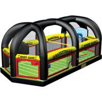 Popular Inflatable All in One Sports Arena Rental , Inflatable football joust games Manufactures