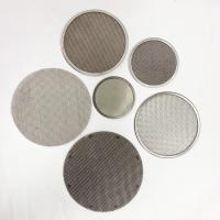 Custom Wire Mesh Filter Disc Framed / Leaf / Perforated / Pleated / Sintered Available Manufactures
