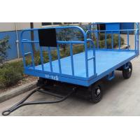 Stable Airport Luggage Carts , Cargo Dolly Trailer 3 mm Faceplate Steel Plate Manufactures