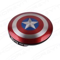 American Captain Shield 6800mAh Portable Power Bank, Universal Mobile Charger UFO Shape Manufactures