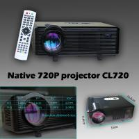 China CL720 720p 1080p projector native 1280*800 3000lumens 2000:1 2*hdmi&usb&vga&tv tuner 50000hours use life on sale