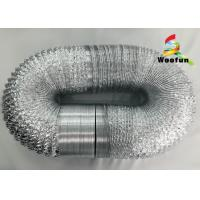 Eco Friendly Silver Range Hood Vent Duct Flexible Aluminum Laminated With Polyester Manufactures