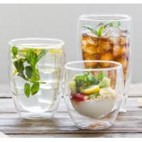 Quality Borosilicate double wall glass handmade  500ml big glass cup with handle and lip clean Heat-resisting glass cup for sale