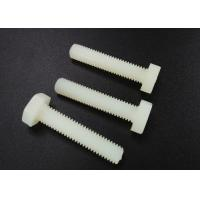 M5 X 10 Beige Nylon Hex Head Screws PA 66 UL 94V-2 Flat Point For Car Industry Manufactures