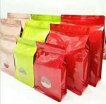 Custom Printing Aluminum Foil Plastic Zipper Flat Bottom Bag with Window for tea packing Manufactures
