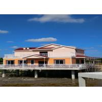 Lightweight Prefab Steel House Over The River With Asphalt Shingle Tile Cement Board Wall Manufactures