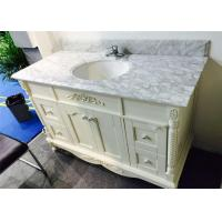 Angel White 40 Inch Bathroom Vanity With Top , Bathroom Sink And Cabinet Manufactures