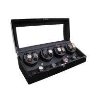 China New Design High Gloss Paint Black Wooden Automatic Watch Winder wooden watch winder Automatic Motor Watch Winder on sale