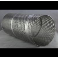 High Pressure Stainless Steel Mesh Tube , Light Decoration Perforated Filter Tube Manufactures
