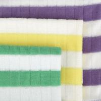 Quality Microfiber Lattice Stripe Weft Knitted Clothes, Extremely Soft for sale