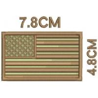 Twill Fabric Custom Embroidery Patches , Iron-on Velcro Badges Eco-Friendly