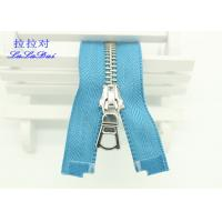 Customized 22 Inch Heavy Duty Separating Zippers , Multi Color Tape Long Coat Zippers Manufactures
