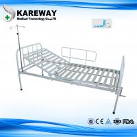Single Crank Manual Hospital Patient Bed With Mattress , Powder Coated Steel Manufactures