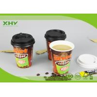 12oz Glossy Finished Custom Logo Printed Disposable Coffee Single Wall Paper Cups with Lids Manufactures