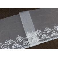 Vintage Embroidered Floral Nylon Mesh Lace Trim Gauze Tulle For Dresses Borders Manufactures