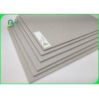1500GSM Grey Board Made Of Recycled / Waste Paper Unpliant No Harm 2.4MM Manufactures