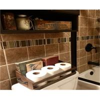 China Bathroom Organization Toilet Paper Holder wood Crate on sale