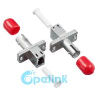 China LC-ST Metal Singlemode Simplex Fiber Optic Adapter for LC Rectangular Type on sale