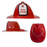 Red Plastic Fire Chief Hat Manufactures