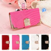Pink Wallet Style PU iPhone 5 / 5s / 4 / 4s Protetcive Cases With Card Holder Manufactures