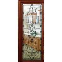 China Wrought iron glass for sliding door/french door on sale