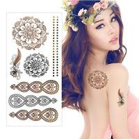 Gold / Silver Metallic Foil Golden Flash Tattoo Water Transfer Paper For Women Manufactures