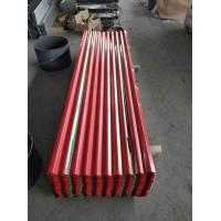 Red Corrugated Sheet Metal / High Hardness Corrugated Steel Roof Sheets Manufactures
