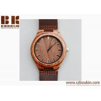 Mens Wooden Watches Brown Cowhide Leather Strap Casual Watch for Groomsmen Gift with Box Manufactures