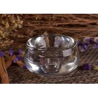 China Round Glass Tealight Candle Holders , Clear Glass Candle Jars on sale