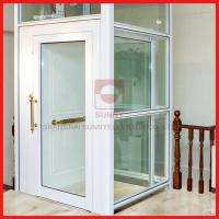 China Durable Glass Home Lift Small High Speed Passenger Elevator For 3-5 Persons on sale