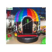 Kids N adults inflatable music disco dome bouncy castle with light hooks on top for outdoor N indoor parties for sale