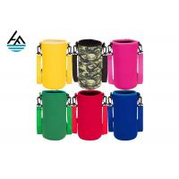 Colorful Printed Can Cooler Bag , Neoprene Can Cover Simple Fashion Diving Material Manufactures