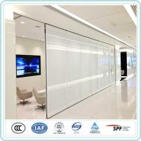 Acoustic noise insulated heat reducing double glazing removable partition for office Manufactures