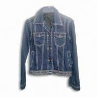 Quality Women's Casual Jacket, Made of 100% Cotton, with Fashionable Design for sale
