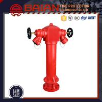 Quality BS750 PILLAR FIRE HYDRANT WITH FLANGE RED COLOR DUCTILE MATERIAL GOOD QUALITY PRICE LIST for sale