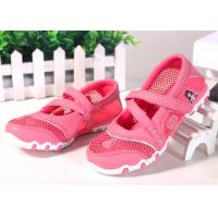 Princess Style Children Sports Shoes , Kids Strap Shoes Mesh Upper Cartoon Pattern Manufactures