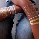 Modern Bracelets handmade Silver Temporary Tattoos / temporary adult tattoos Manufactures