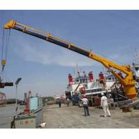 China Hydraulic Telescopic Boom Crane for Ship / Vessel With CCS / BV Certificate on sale