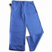 China Trousers, Made of 100% Cotton Twill with Flame Retardant Finishing, EN 11611-/EN11612-approved on sale