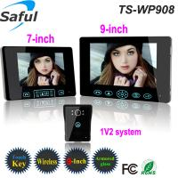 China 2.4GHz digital frequency 300 meters transmission wireless video door phone intercom system on sale