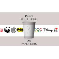 Take away Coffee Printed Paper Cups Food Grade For shop , Recycled Manufactures