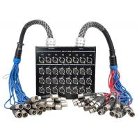 32 Channel XLR Stage Box Snake Cable DSS24X8-30M / M24-10M , Splitter Snake Cable Manufactures